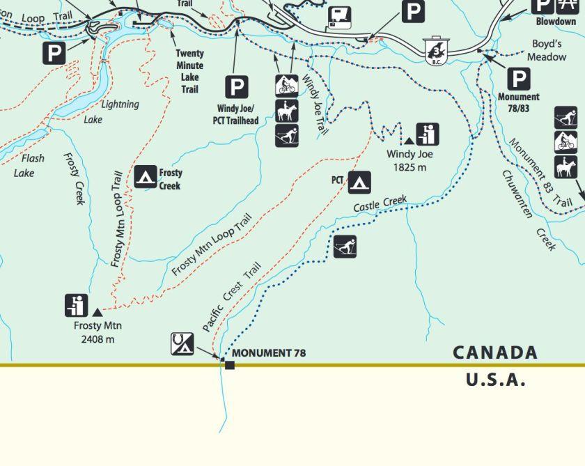 Manning Park map