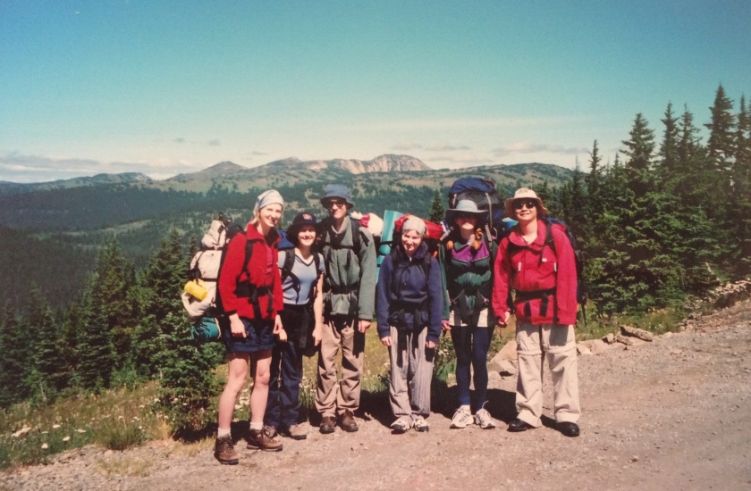 Manning Park, August 2000. I am the small optimistic creature, second from the left.